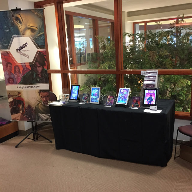 All set up at Harford County Public Library Comic Con!