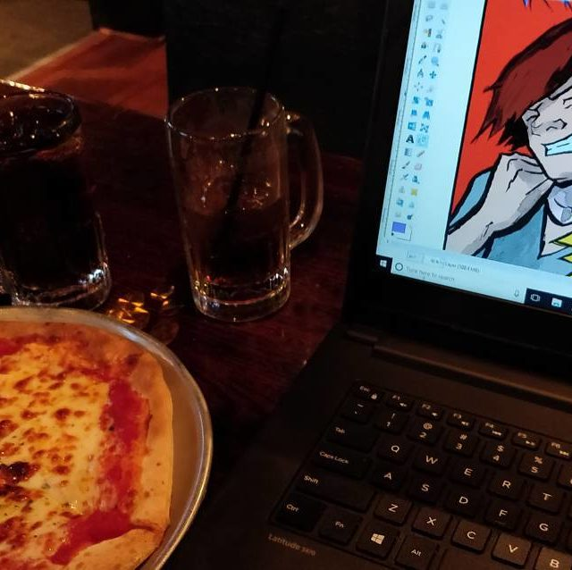 Another Saturday afternoon spent working on comics at pubdog Currentlyhellip